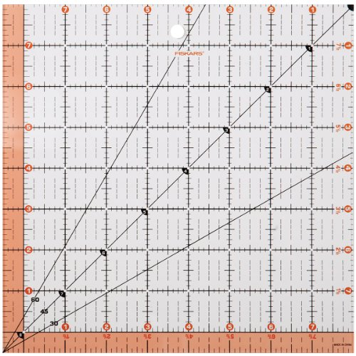 Fiskars 8.5x8.5 Square Acrylic Ruler (187200-1001) (187200-1000)