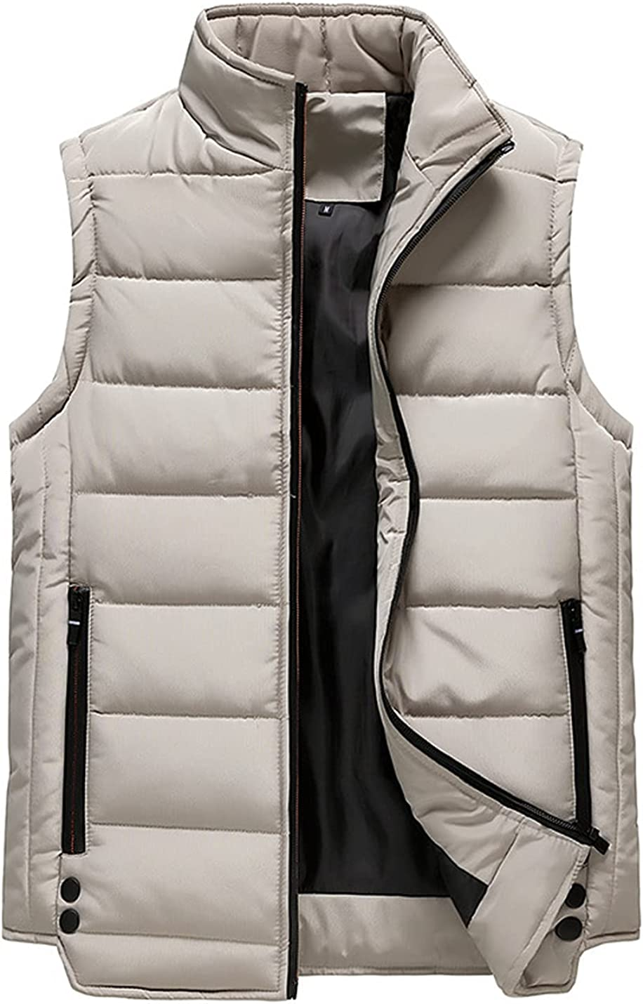 Peaceglad Men's Winter Zip Up Down Puffer Vest Sleeveless Padded Quilted Lightweight Jackets with Pockets