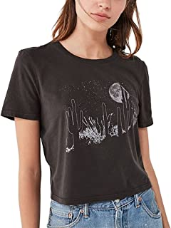 Summer Style Black T Shirts Women Vintage Aesthetic Graphic Grunge Friends Cute Crop Tops Clothing Plus Size