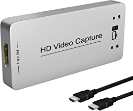 HDMI Capture Dongle Adapter Card, HDMI to USB 3.0, Full HD 1080p 60FPS Live Streaming Game Capture Video Grabber for PS4 X...
