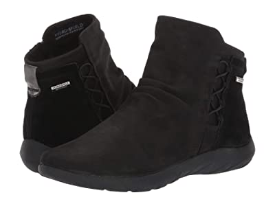Cobb Hill Amalie Ghillie Boot Waterproof (Black Nubuck) Women