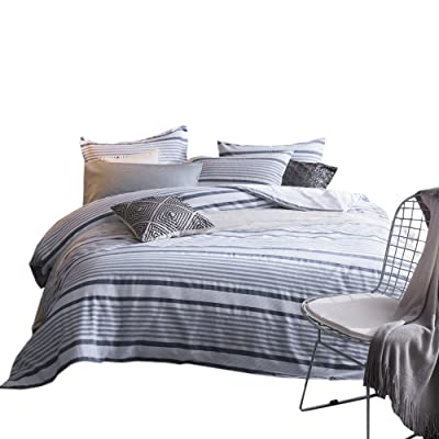 Merryfeel 100% Cotton Yarn Dyed Striped Duvet C...