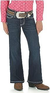Girls' Premium Patch Boot Cut Fashion Wash Jeans