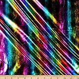 Ben Textiles Foil Spandex Iridescent Hologram, Multi Yard