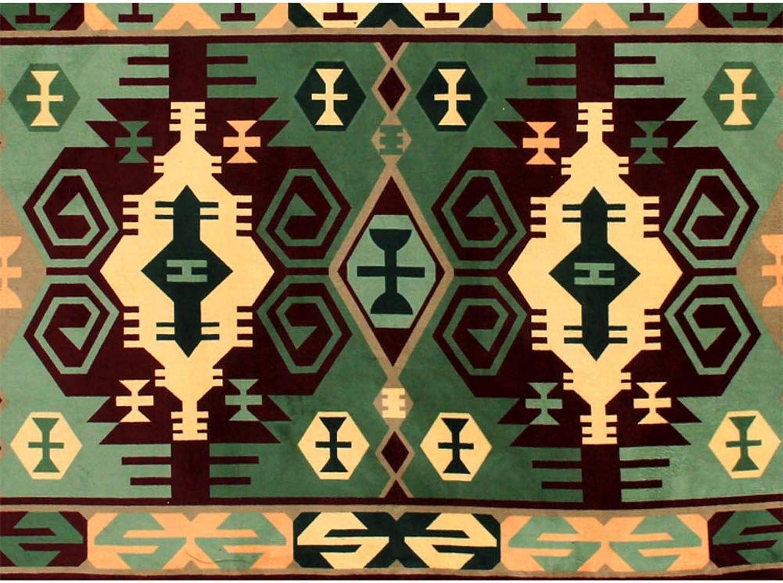 Doormat,Entrance Doormat Carpet Super Soft Anti-skidding Home Decor-Green 80x100cm(31x39inch)