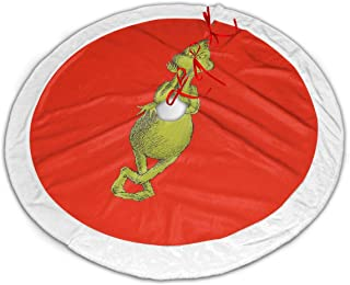 DGAGD The Grinch Stole Christmas The Soft Fluffy Plush Material of The Christmas Tree Skirt Adds A Festive Warmth to The Christmas Season, 36