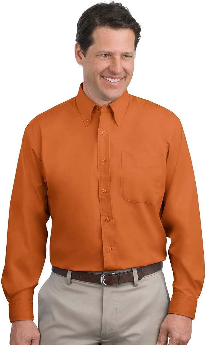 Port Authority Tall Long Sleeve Easy Care Shirt>3XLT Texas Orange