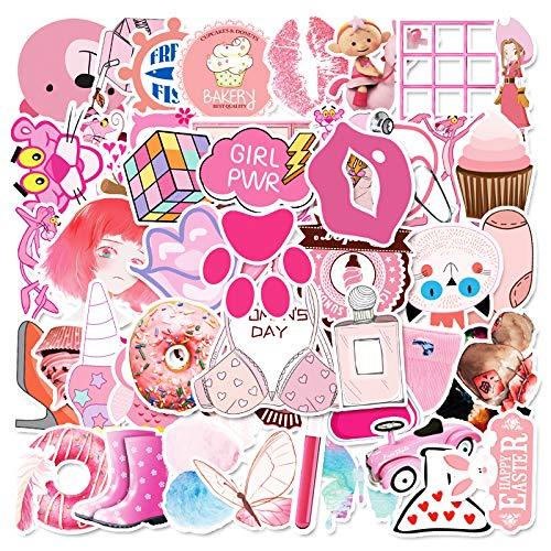 SHUYE Bonita Serie Rosa para Equipaje, Ordenador portátil, teléfono, Tableta, monopatín, Guitarra, Pegatinas Impermeables, 50 Hojas