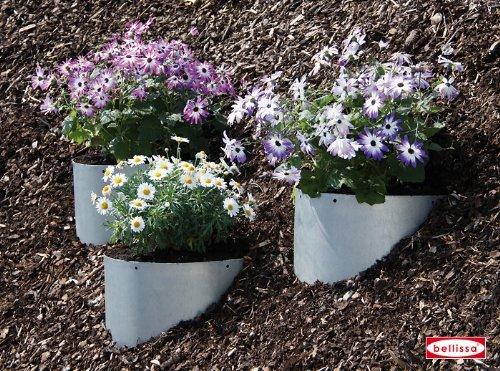 Hang-plantes acier galvanisé-lot de 4: taille h.23 10067–diamètre 40 cm