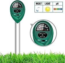 yoyomax Soil Test Kit pH Moisture Meter Plant Water Light Tester Testing Kits for Garden Plants