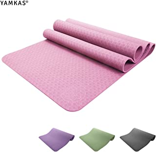 Ejercicio Premium Yoga Mat Natural Rubber 3.5mm Thick Fitness y ejercicio Fitness Aerobic Gym Pilates Camping Mat 178x 61 Cm