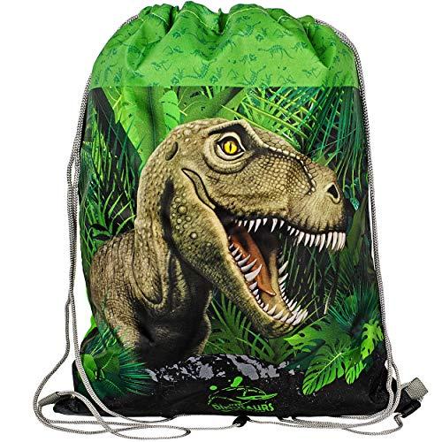 alles-meine.de GmbH Beutel - Sportbeutel - Turnbeutel - Schuhbeutel _ Dinosaurier - Dino / Tyrannosaurus Rex _ wasserdicht wasserfest - wasserabweisend & abwischbar - für Kinder ..
