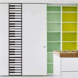 BIBITIME 4PCS DIY Piano Keyboard Wall Stickers Creative Musi