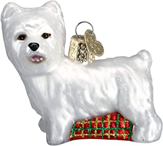 Old World Christmas Ornaments: Westie Glass Blown Ornaments for Christmas Tree