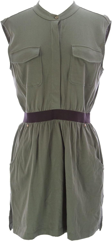 Joan Vass Women's Pocket Tunic Dress Olive