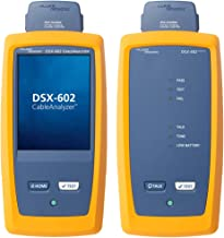 Fluke Networks DSX-602-PRO CableAnalyzer Copper Cable Certifier for Category 5, 5e, 6, & 6A Twisted-Pair Cabling, 500 MHz Range, Touchscreen, Channel & Permanent Link Adapters, LinkWare Reporting