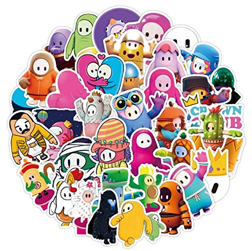 ZXXC Game Through Jellybeans Full Guys Graffiti Stickers Waterproof Suitcase Notebook Water Cup Stickers 50 Sheets