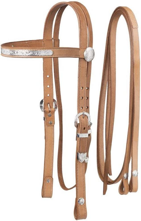 shopping Tough-1 Draft Large Horse Silver Reins and Popular shop is the lowest price challenge Headstall Show