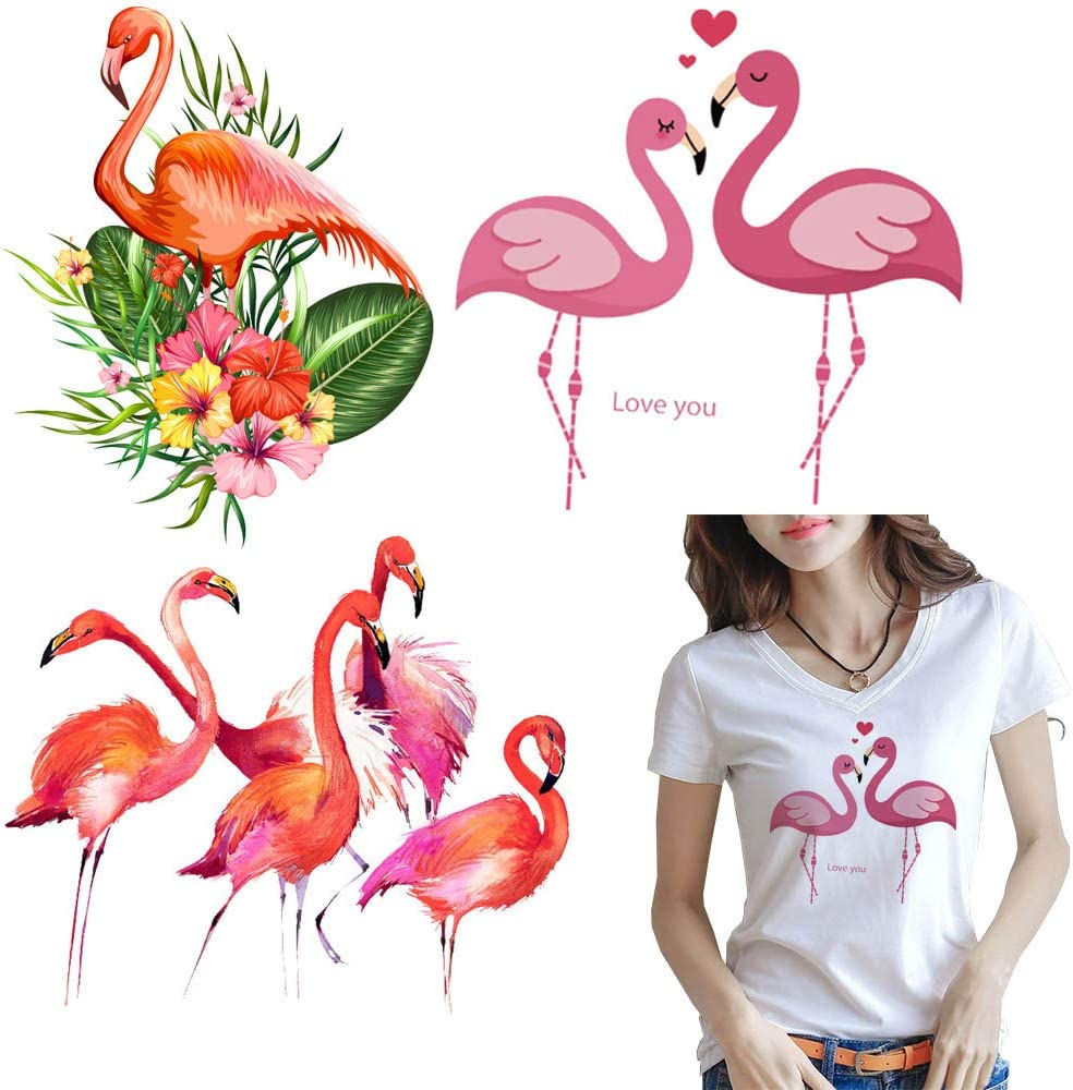 flower bird patches for clothes iron-on transfers easy print diy appliques Nice