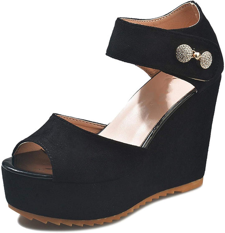 Casual Wedge Platform Buckle Ankle Strap High Heel Sandalias Platform Pump Espadrilles shoes
