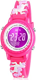Viposoon Kids Watch, 3D Cartoon Watch with 7 Color Lights and Alarm - Gifts for Kids