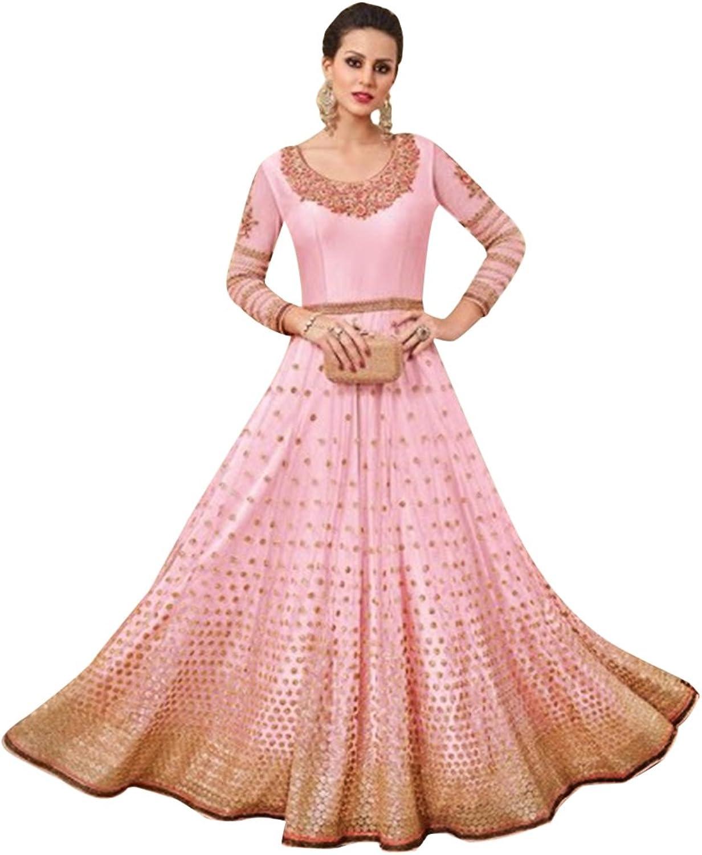 Bollywood Collection Anarkali Salwar Kameez Suit Ceremony Wedding Muslin Eid 573