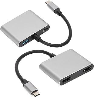 Typ-C-adapter typ -C till HDMI-adapter Plug and Play aluminiumdesign möss tangentbord hem för USB-flashenheter
