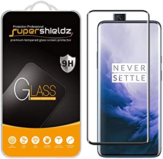 (2 Pack) Supershieldz for OnePlus 7 Pro and OnePlus 7T Pro Tempered Glass Screen Protector, (Full Cover) (3D Curved Glass)...