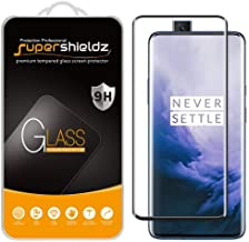 (2 Pack) Supershieldz for OnePlus 7 Pro Tempered Glass Screen Protector, (Full Cover) (3D Curved Glass) Anti Scratch, Bubble Free (Black)