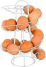GKKXUE Egg rack spiral storage rack Deluxe Spiraling Dispenser Rack Basket Storage Space Up to 24 Multi-functional rack,Si...