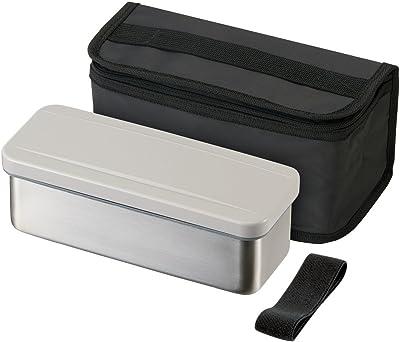 スケーター ステンレス弁当箱 850ml スリム ランチボックス 保冷バッグ付 シルバー 大容量 男性用 KSTP9P