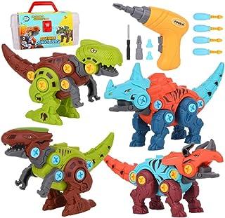 مجموعة ألعاب للأطفال من البلاستيك المضحك لمرحلة ما قبل المدرسة للأطفال من ليكوجيل مجموعة لعبة ديناصور تنمية لطيفة قابلة لل...