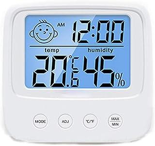 XYXZ Mini Termómetro Higrómetro Higrómetro Interior Digital Glimlach Gezicht Temperature-Vochtigheidsmeter Voor Indoor A