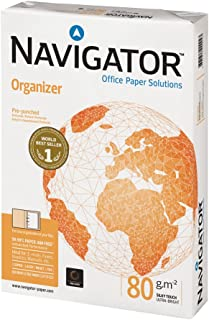 Navigator Organizer Paper Ream-Wrapped 80gsm Punched 4-Hole A4 White Ref NAV0317FH [500 Sheets]