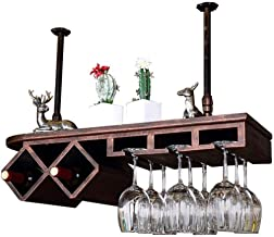 HTTJJ Stylish Wine Rack for Wall Mounting, Bottle and Glass Holder, Floating Wine Rack, Storage Containers for Home and Ki...