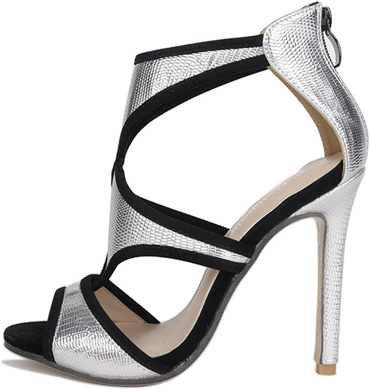 Women's Classic Peep Toe Platform Stiletto High Heel Dress Pump