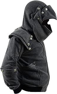 Men's Arthur Knight Hoodie Medieval Armor Sweatshirt Hooded Jacket Coat Outwear Costume
