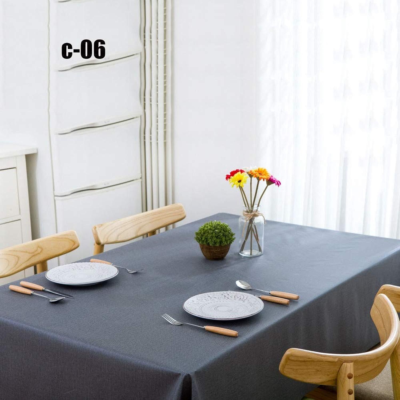 Pvc Nappe Imperméable Européenne Anti-EncrasseHommest Ménage Rectangulaire Lavable Vert Nappe,C-06-1.37  2m
