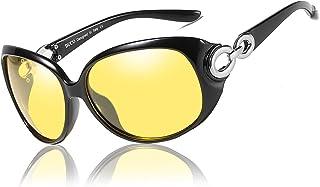 Duco Lunettes de Vision Nocturne pour Conduite de Nuit Lunettes Anti-éblouissement Lunettes Polarisées- Protection 100% UV...