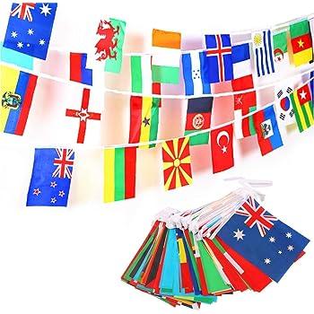 JZK 25 Metros Banderas de Mundo 100 Banderas países, banderitas ...