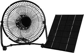 Panel Solar Ventilador,Powered Fan 5.2W 6V Portátil Mini USB Ventilador Solar Fan de Hierro de Enfriamiento para camping Ministerio del Interior Al aire libre Viajar Pesca caravana casa 8