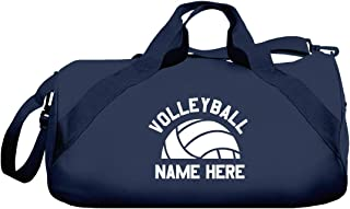 Personalized Volleyball Sports Girl: Barrel Duffel Bag