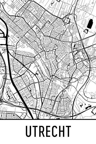 Modern Map Art Utrecht Print, Utrecht Art, Utrecht Kaart, Utrecht Nederland, Utrecht Poster, Utrecht Wall Art, Utrecht Gift, Utrecht Decor, Utrecht Cityscape, Utrecht Kunstdruk