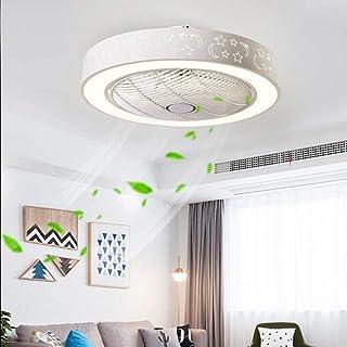 April Story Lámpara De Techo LED con Encendiendo Ventilador Moderno Control Remoto Ajustable Viento Velocidad Moderno Dormitorio Los 55Cm