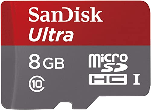 SanDisk Ultra Android microSDHC 8GB bis zu 48MB/Sek, Class 10 Speicherkarte + SD-Adapter product image