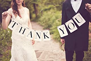 MXXGMYJ MagicW Thank You Banner Cards Baby Shower Bunting Wedding Banner Wedding Party Banner Garland Sign Photo Props Hanging Decor Wedding Party Decoration