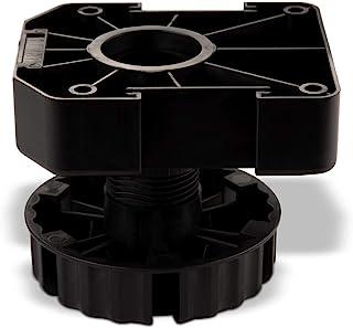 SO-TECH® Juego de 4 Zócalo Mueble Cocina Patas Plásticas Pies para Mueble Patas Regulables Alto 75 mm