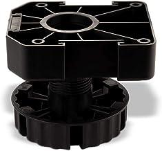 20 stuks SOTECH meubelvoet zwart, hoogte: 75 mm, verstelbaar, belastbaarheid: 500 kg per stelvoet