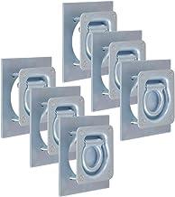 vidaXL 6x Bevestigingsring voor Aanhanger Verzinkt Staal Veiligheidsring Ring
