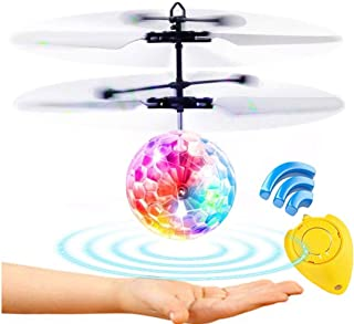 Weide Flying Ball, Remote Control Flying Toy, Children's Toy, Infrared Induction Helicopter Drone, Colorful Shiny LED Lights and Children, Indoor and Outdoor Games (Flying Ball)